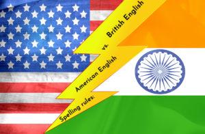 Spelling rules American English vs
