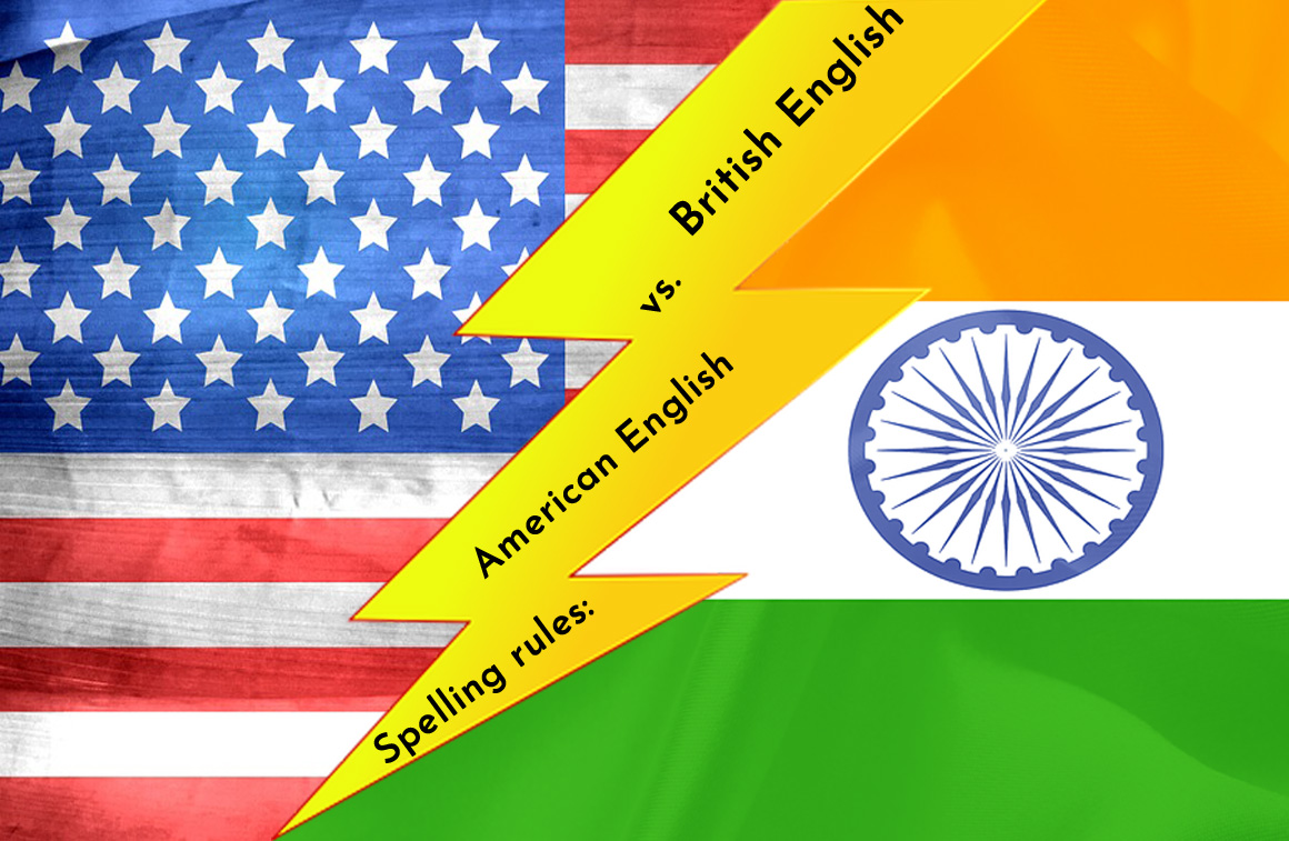 Spelling rules American English vs
