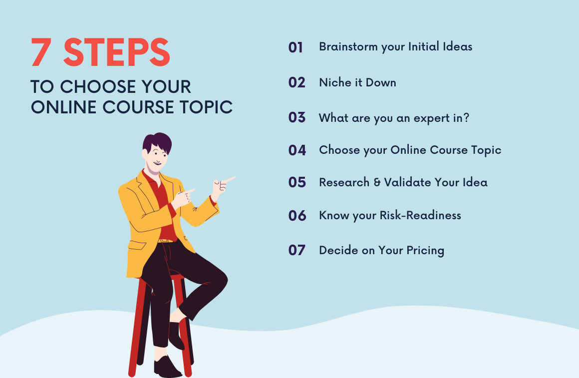 7 steps to choose your online course topic