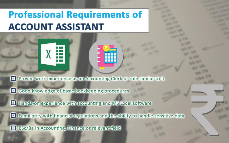 Professional Requirements of Account Assistant