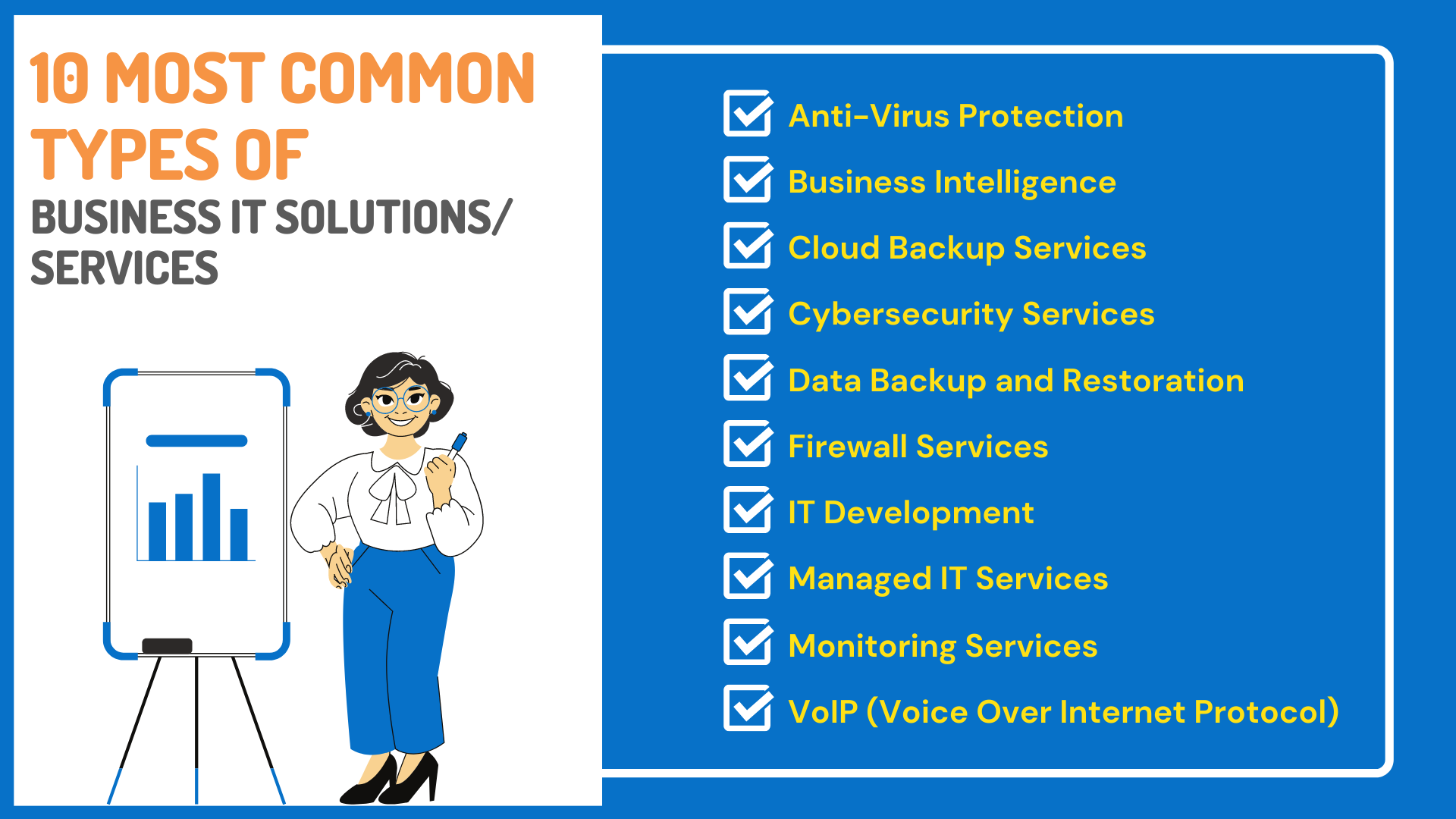 10 Most Common Types of Business IT Solutions/ Services